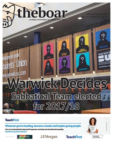 69fee1e34 Issue 10, Volume 39 - Thursday 9 March 2017 by The Boar - issuu