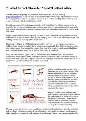 Troubled By Back Discomfort? Read This Short article... by ... on