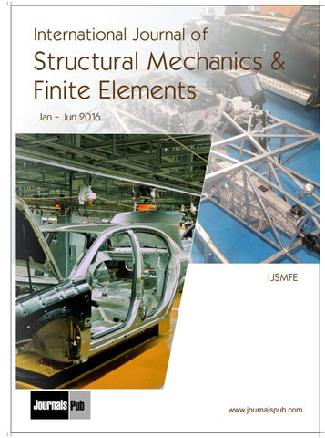 International Journal of Structural Mechanics and Finite Elements