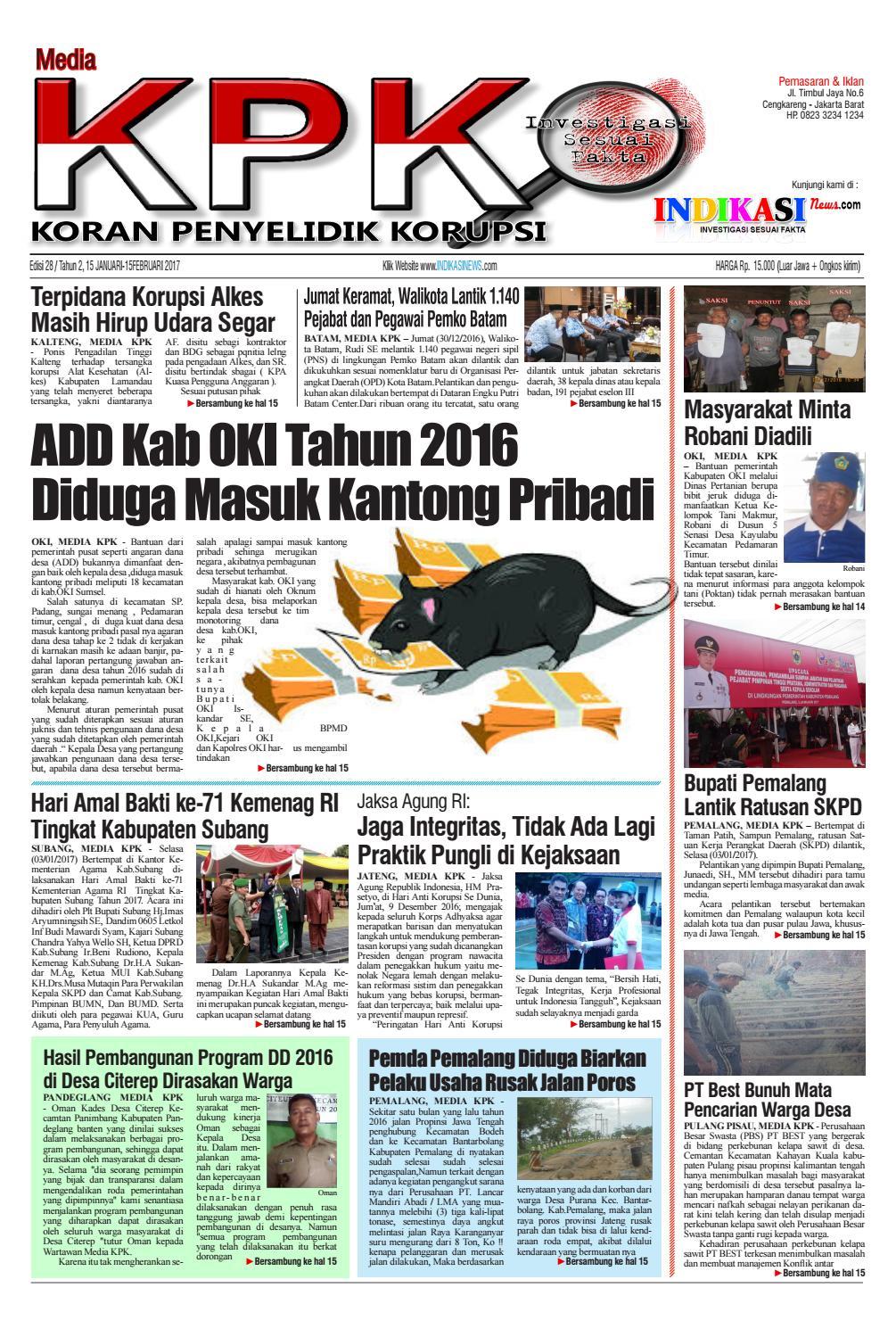 Edisi 28 By Media KPK Issuu