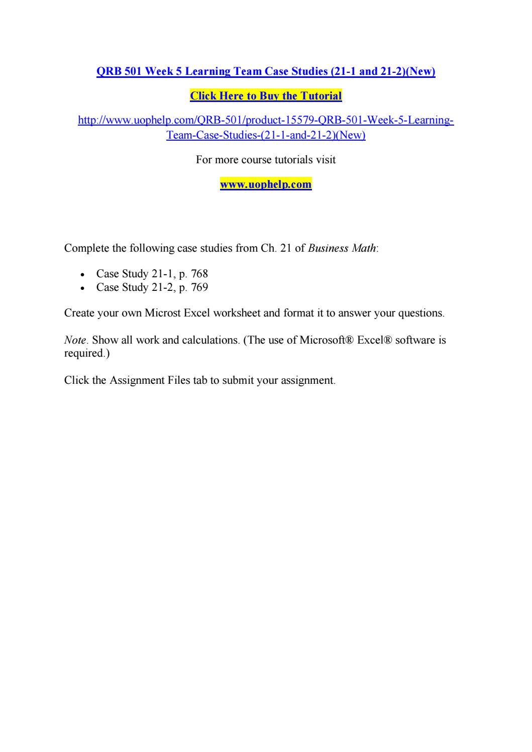 case study 21-1 p768