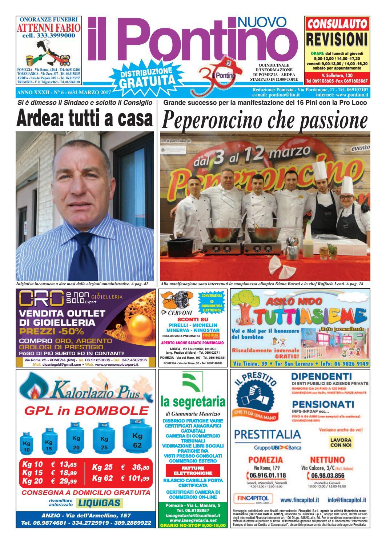 Il Pontino Nuovo - Anno XXXII - N. 6 - 16 31 Marzo 2017 by Il Pontino Il  Litorale - issuu 14eb17296b7