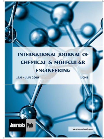 International Journal Of Chemical And Molecular Engineering Vol 2 Issue 1 By Journalspub Issuu