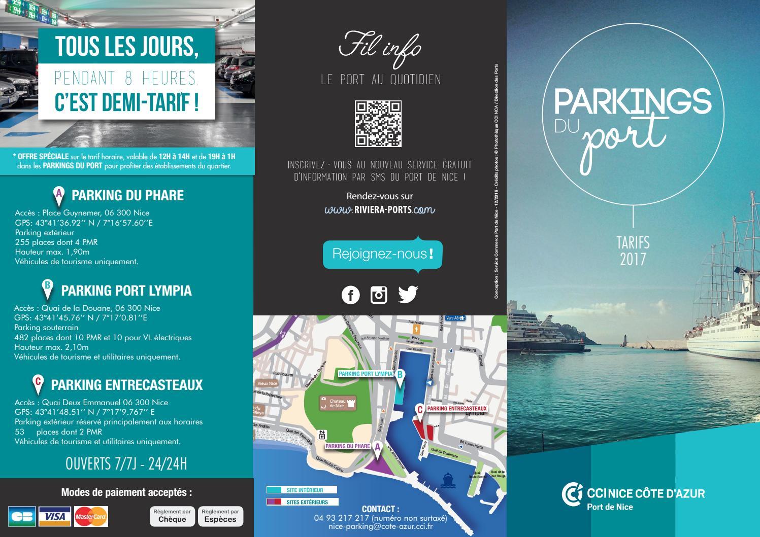 Parkings du port de nice tarifs 2017 by cci nice c te d - Parking port nice ...