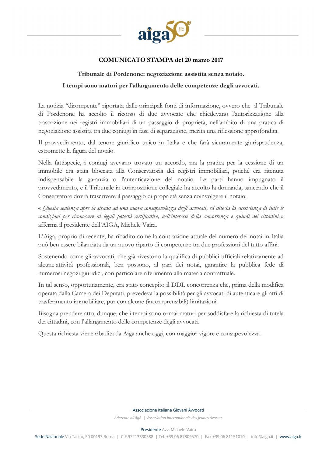 2017 03 20 cs75 negoziazione assistita senza notaio by michele vaira issuu - Donazione immobile senza notaio ...