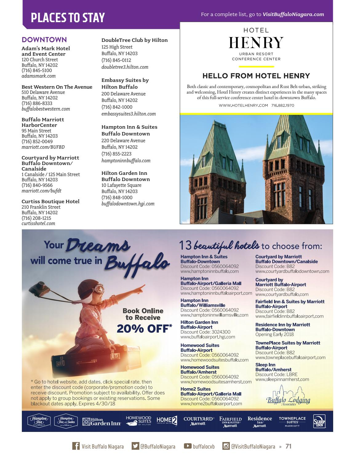 Buffalo Niagara Touring Guide 2017 by Matt Steinberg - issuu