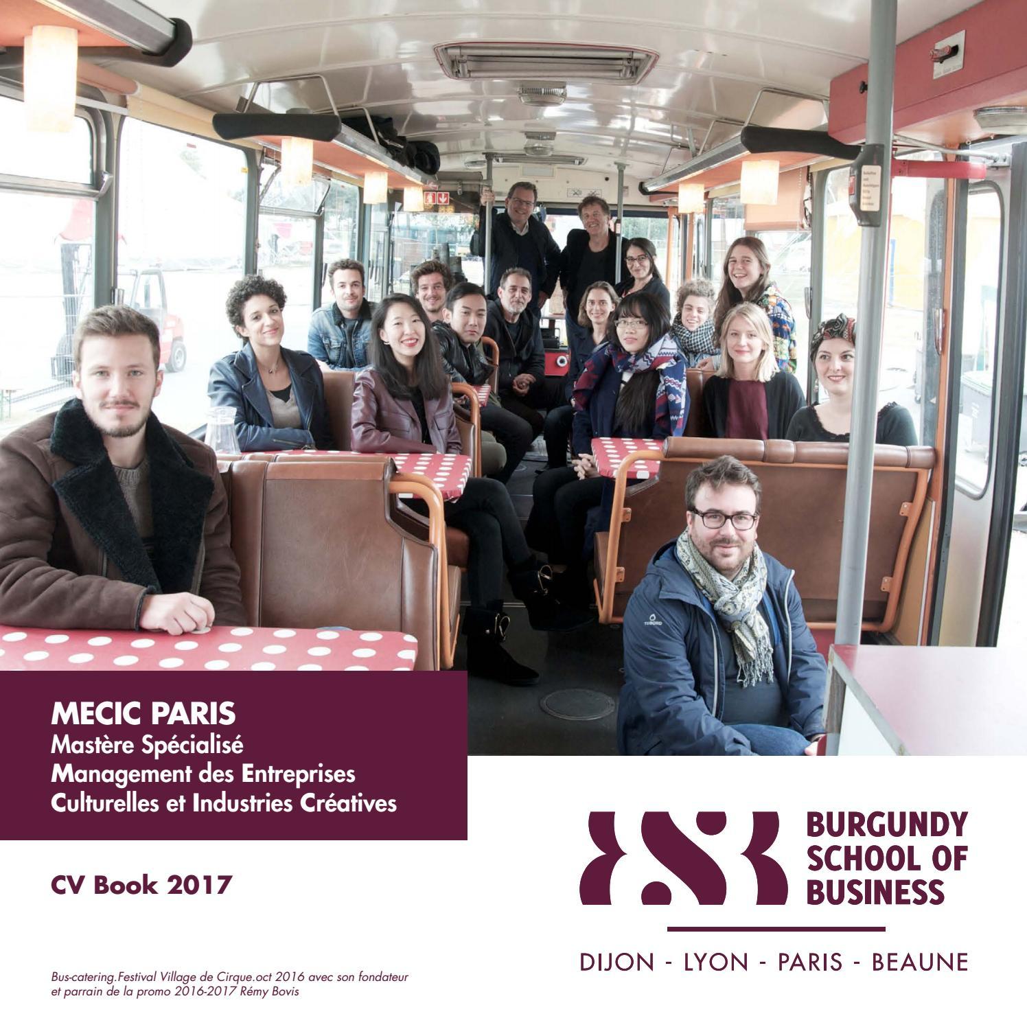 mecic cv book by burgundy school of business