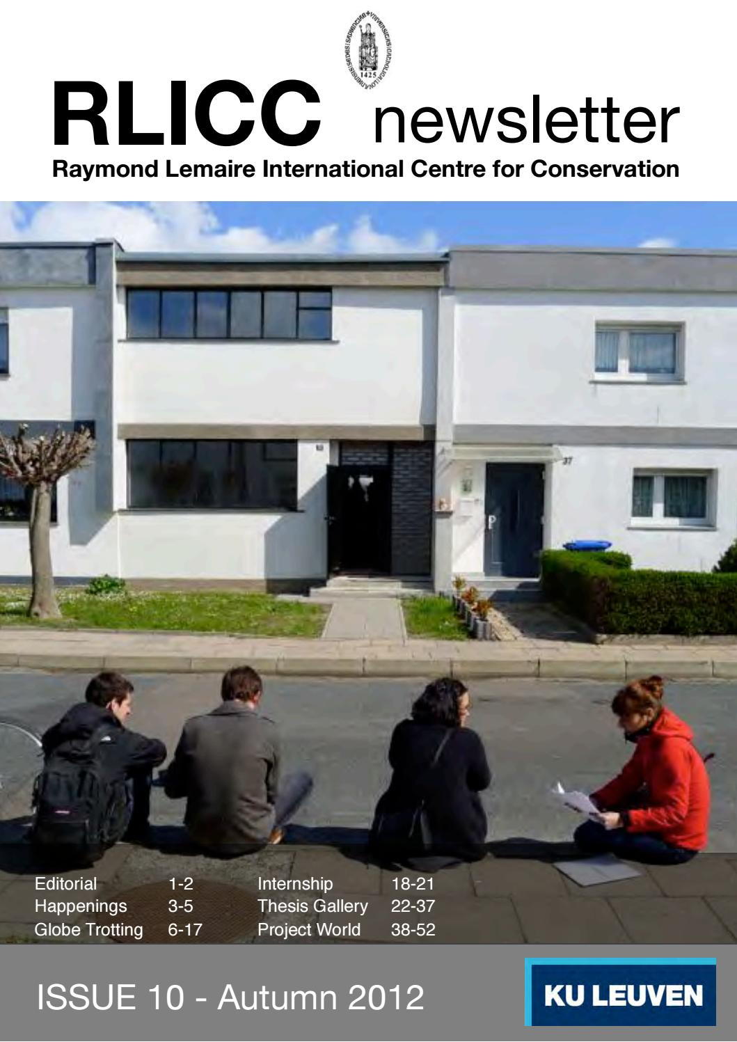 Creer Ilot Central Cuisine ~ Rlicc Newsletter Issue 10 Autumn 2012 By Raymond Lemaire