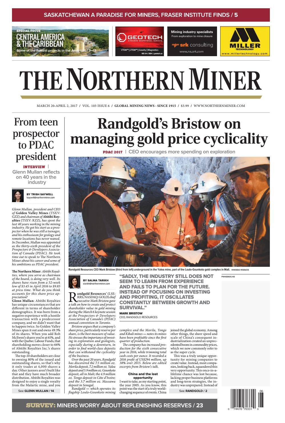 The Northern Miner March 20 2017 Issue by The Northern Miner Group