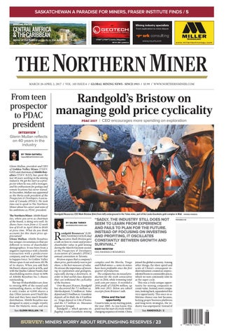 165 Niocorp Appoints Mr Mark A Smith  >> The Northern Miner March 20 2017 Issue By The Northern Miner