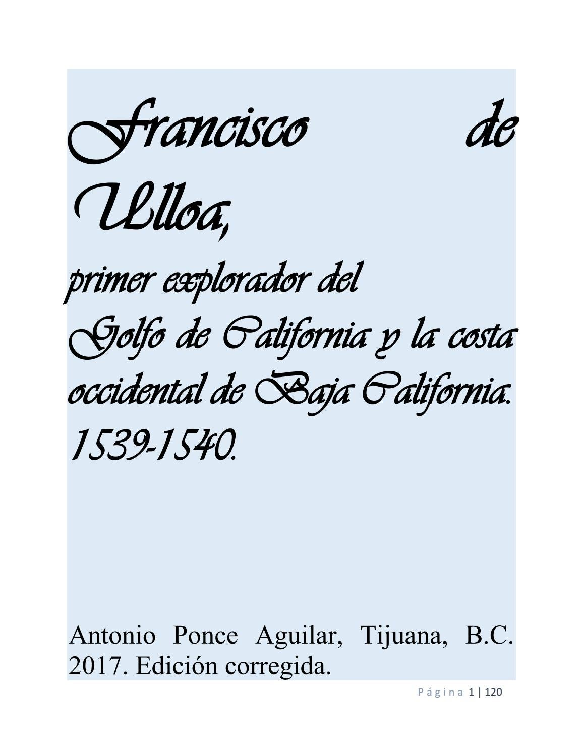 Francisco de ulloa by antonio ponce aguilar - issuu