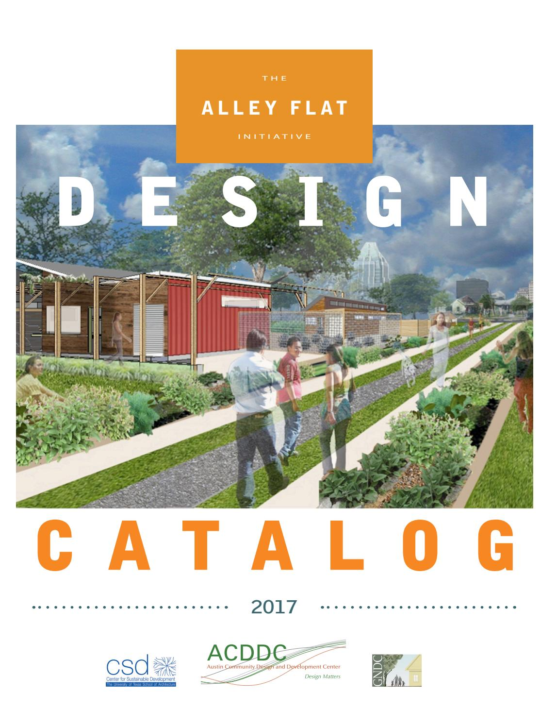 2017 alley flat design catalog by austin community design for Accessory dwelling unit austin