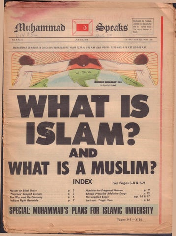 7 10 1970 What Is Islam And What Is A Muslim By Muhammad Speaks