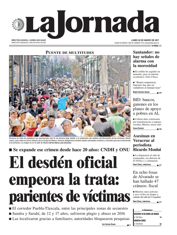 La Jornada 03 20 2017 By La Jornada Demos Desarrollo De Medios  # Cota Muebles Teziutlan Puebla
