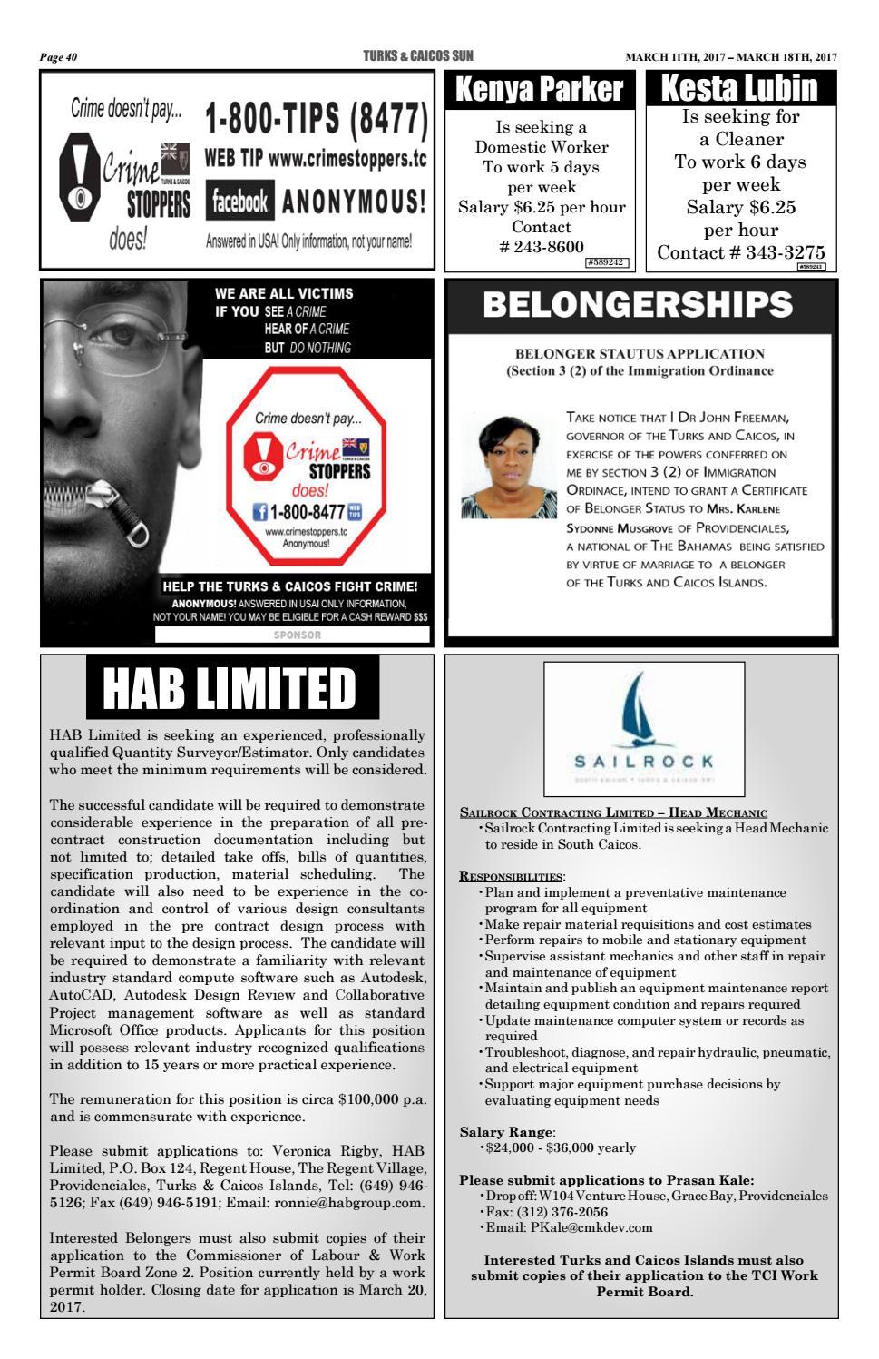 Belongers permit