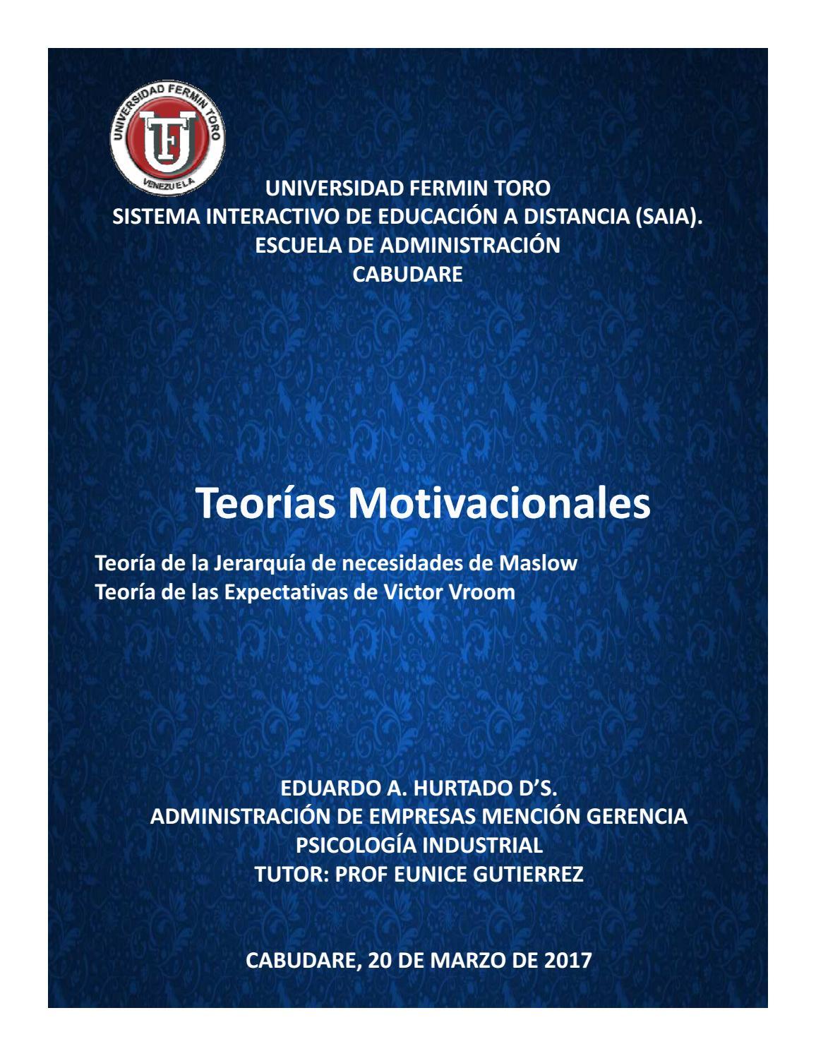 Teorías Motivacionales By Eduardo Ds Issuu