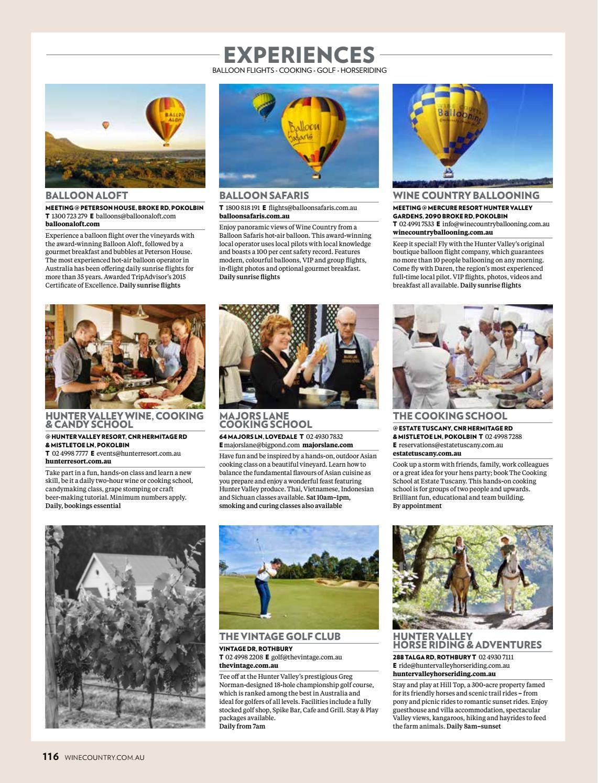 Hunter Valley Magazine Issue 8, 2017 by Hunter Valley Wine & Tourism  Association - issuu