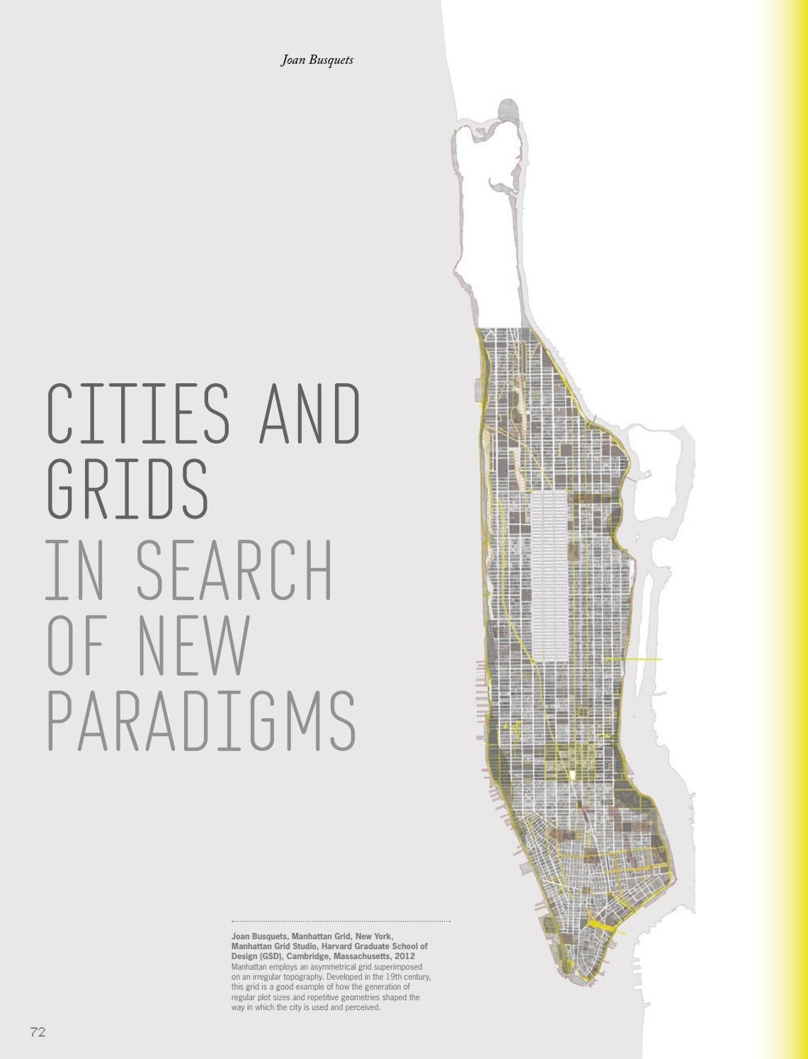 Busquets 2013 Cities And Grids In Search Of New Paradigms In Ad