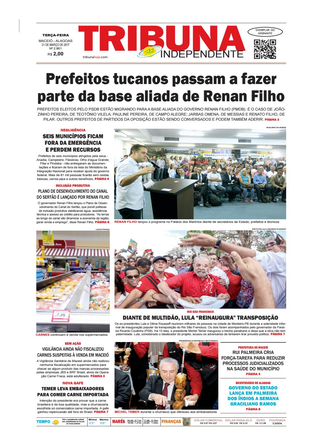 cbbaea1e29844 Edição número 2861 - 21 de março de 2017 by Tribuna Hoje - issuu
