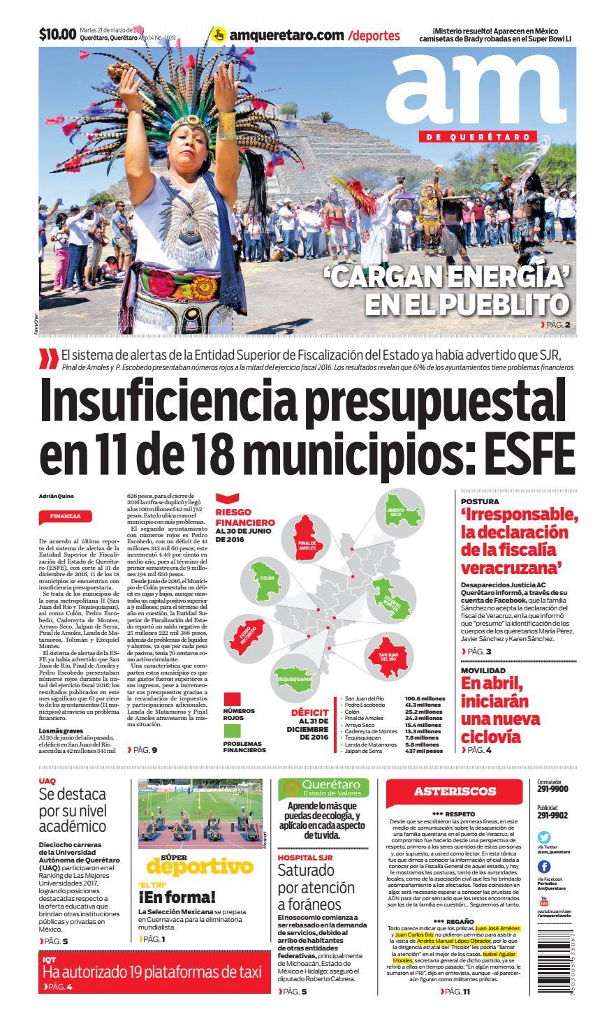 8bc18bab01a 21 I 03 I 2017 by AM Queretaro - issuu