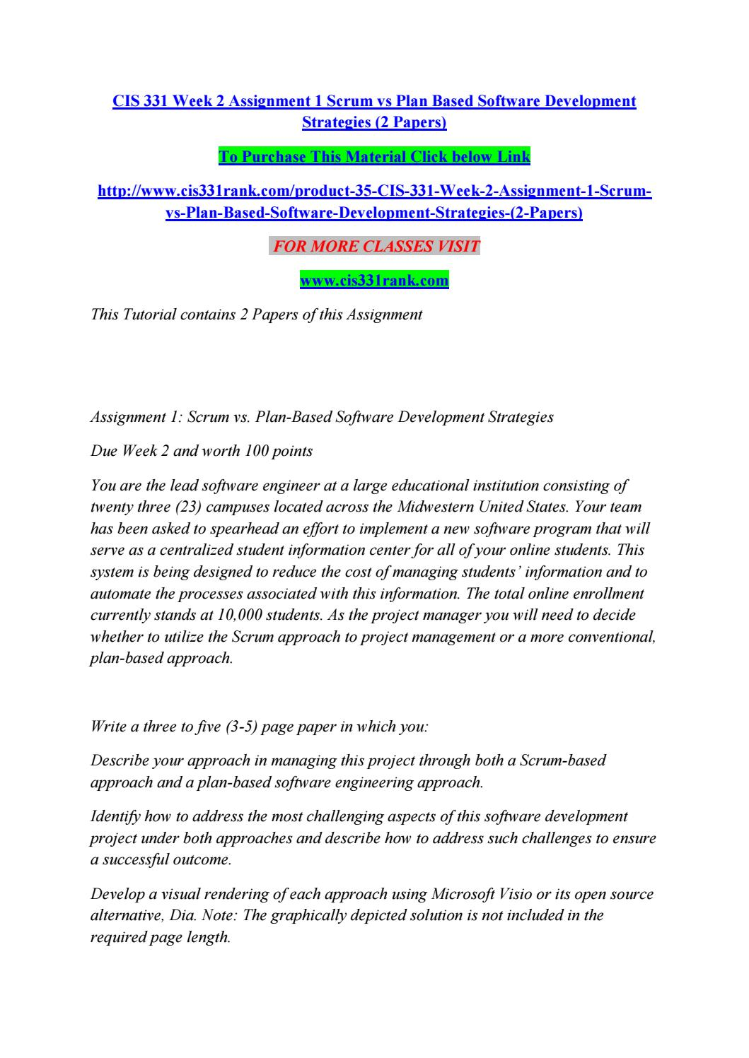 assignment strategy development report Strategic business plan & market assessment  1 marketing strategy this report analyzes the  this is an analysis of the development team's ability to.