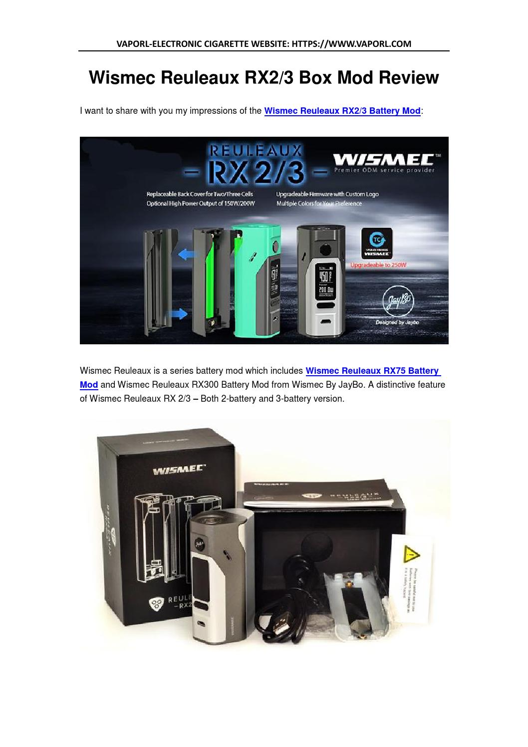 Wismec Reuleaux RX2/3 Review by ecig vape - issuu