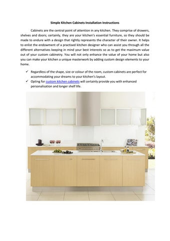 Simple kitchen cabinets installation instructions by Maria ...