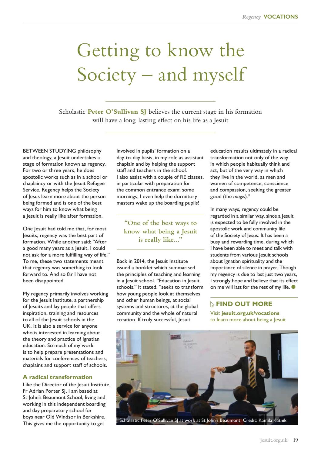 Jesuits and friends issue 96 by Jesuits in Britain - issuu