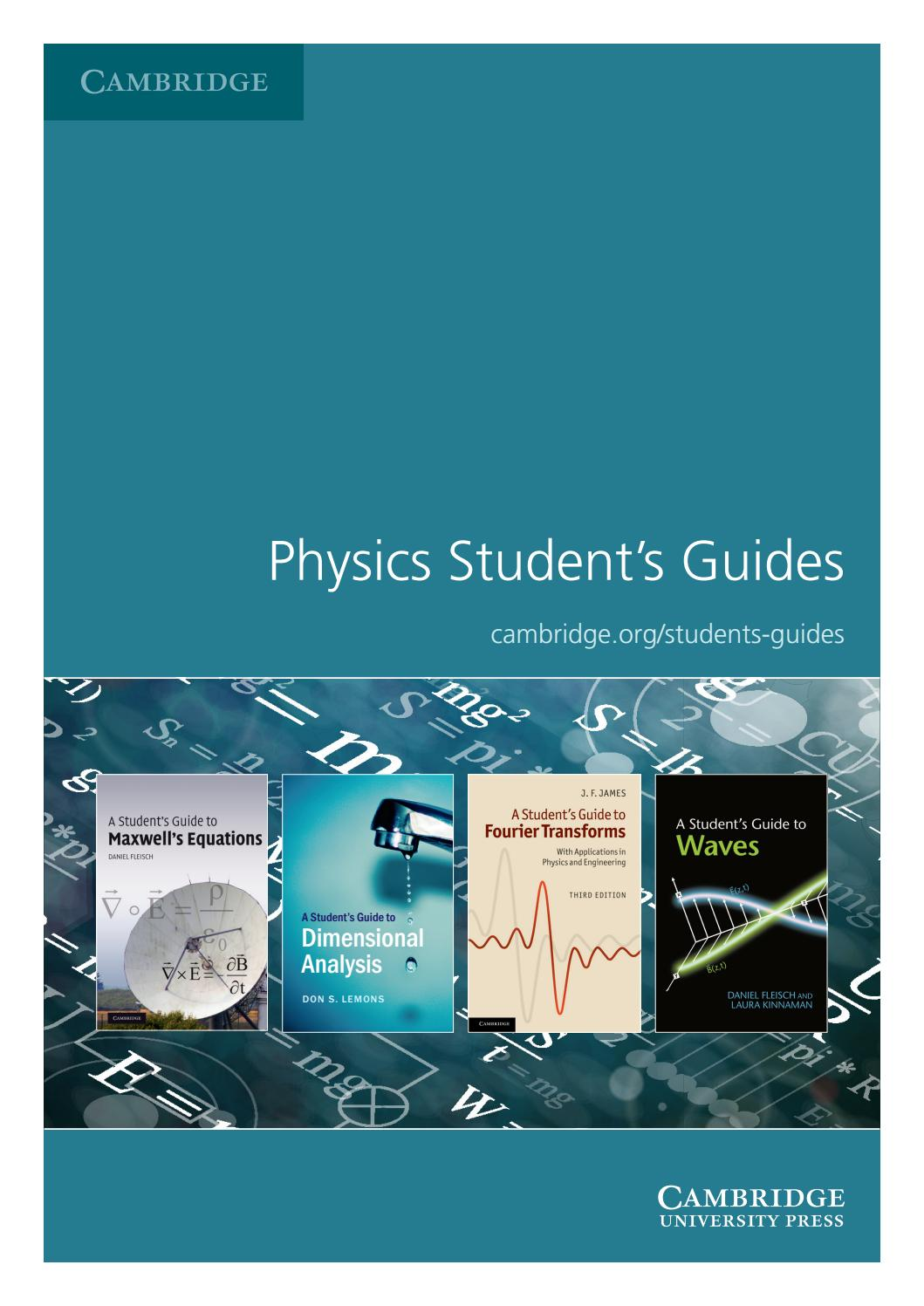 a students guide to maxwells equations students guides