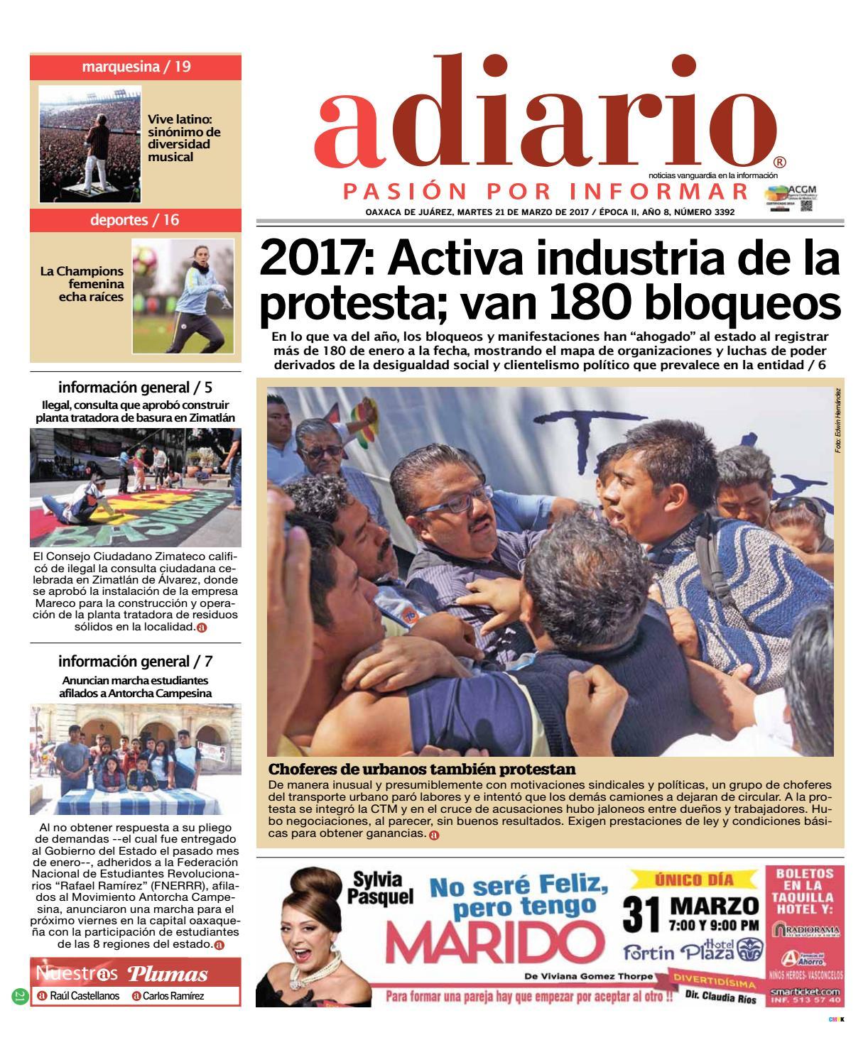 5ea76ea45ccb1 Edición 21 de Marzo de 2017 by Adiario Oaxaca - issuu