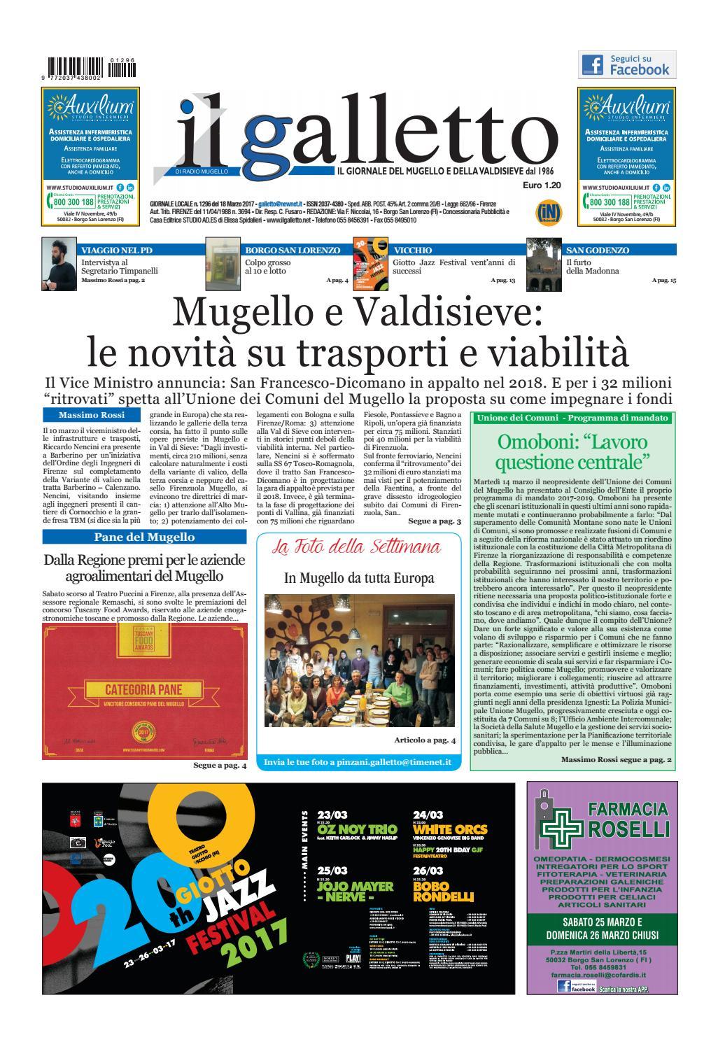 Galletto 1296 Del 18 Marzo 2017 By Il Galletto Giornale Issuu