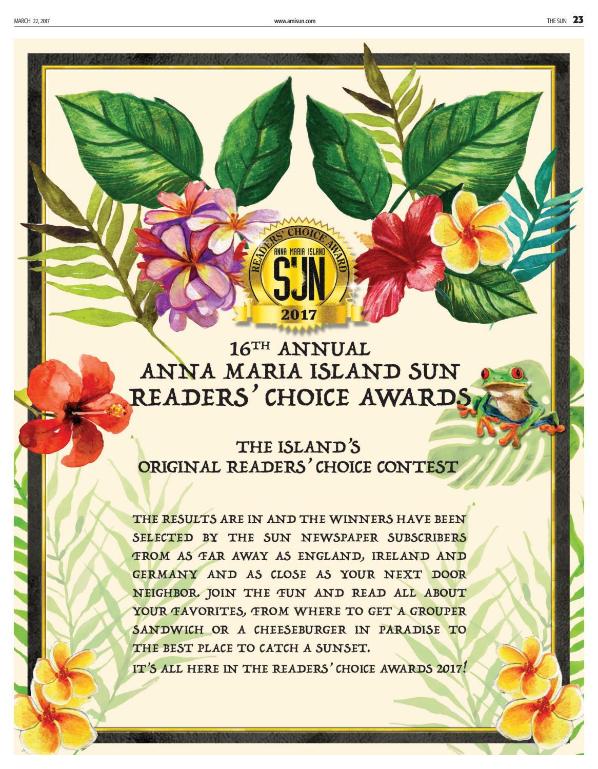 Anna Maria Island Sun March 22 2017 Readers Choice By