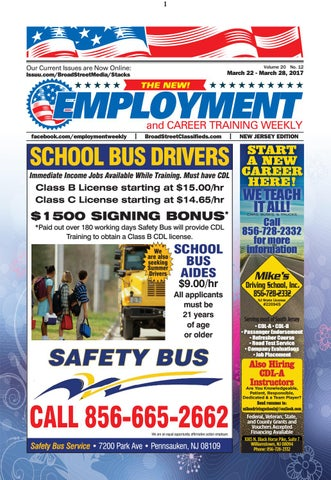 Employment Weekly NJ 032217 by Broad Street Media - issuu