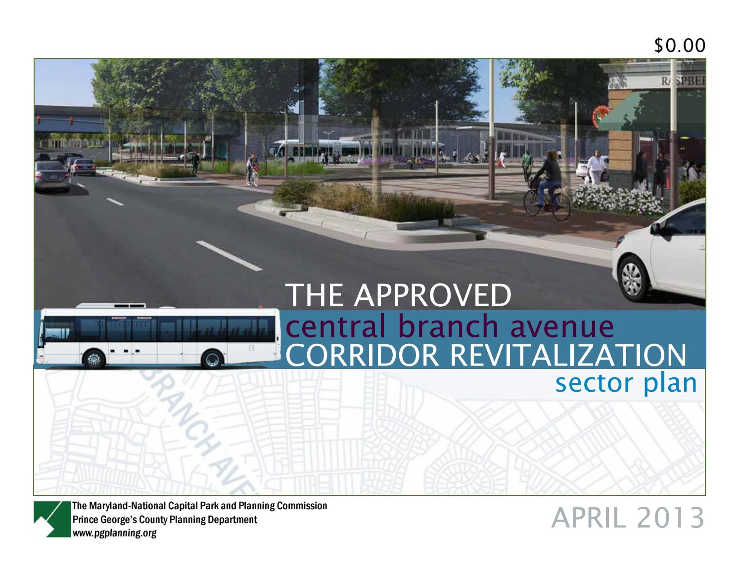 Approved Central Branch Avenue Corridor Revitalization