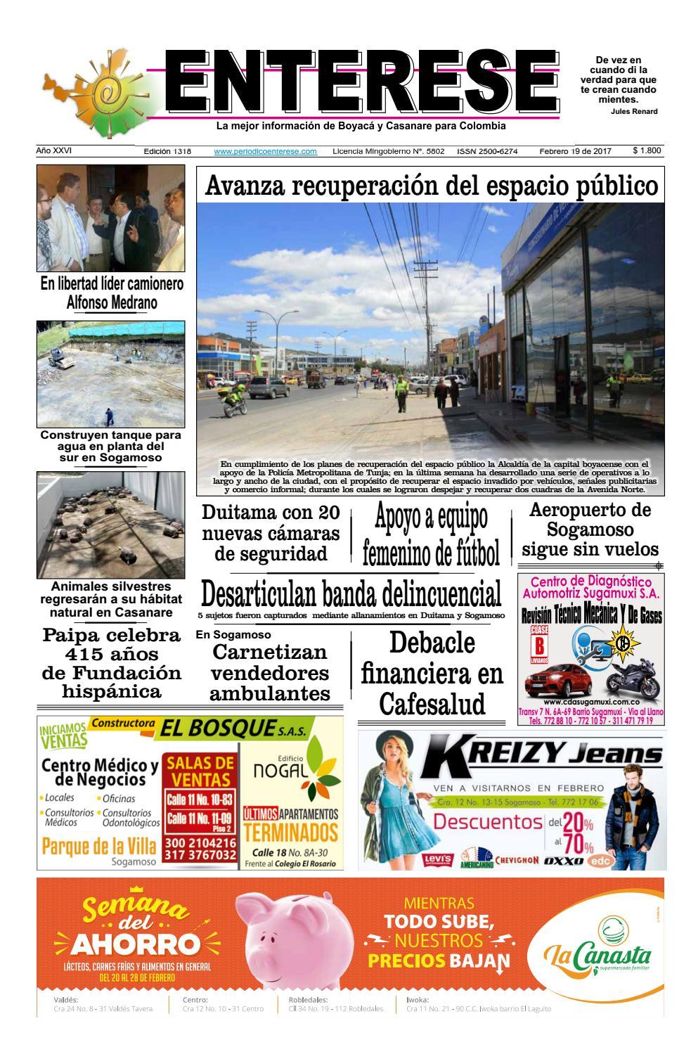 Edici N Vigente Para La Semana Entre 19 Y 25 De Febrero By  # Almacenes De Muebles Sogamoso