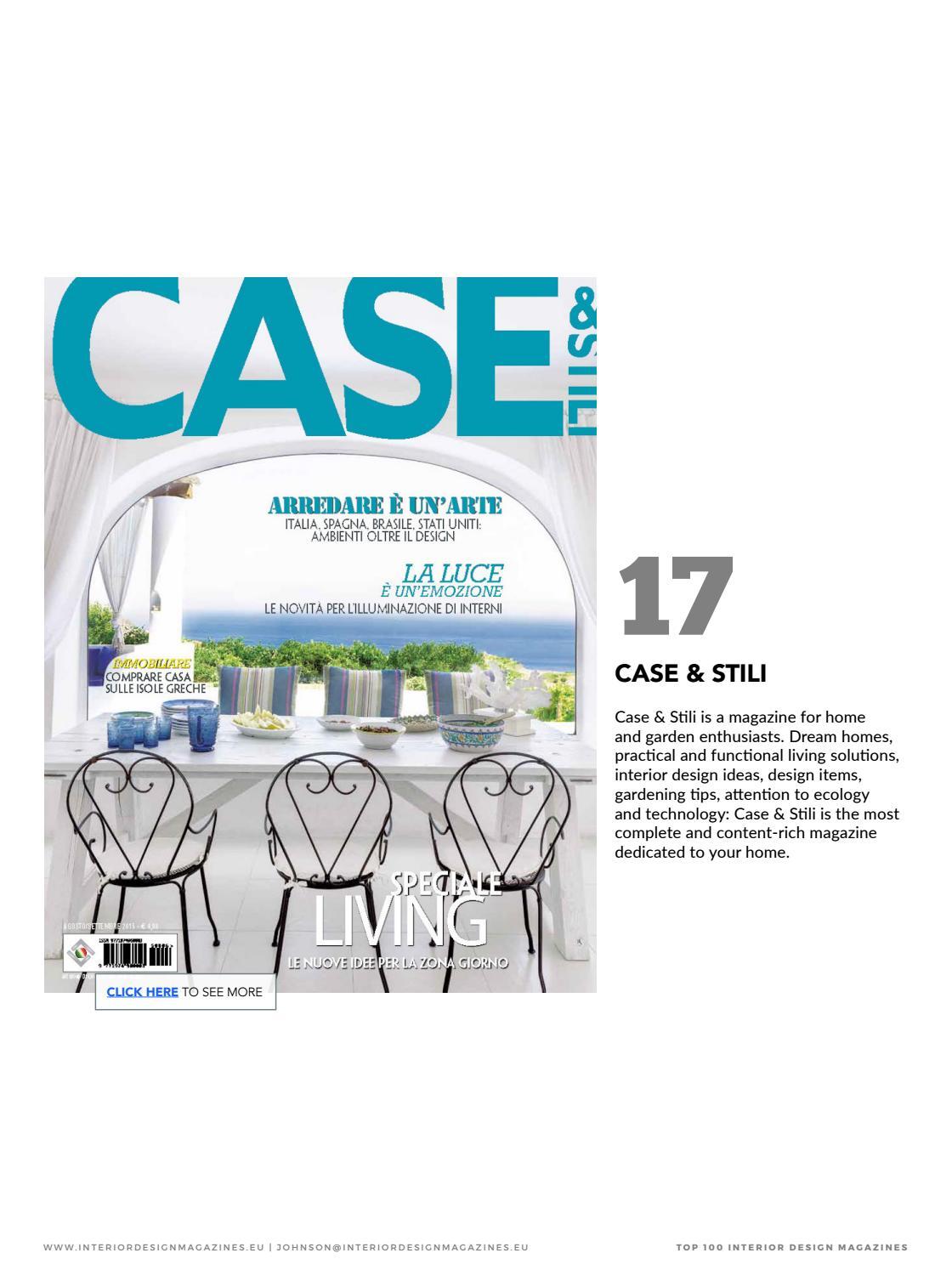 Case E Stili Design interior magazines - home & living 2018 by home & living