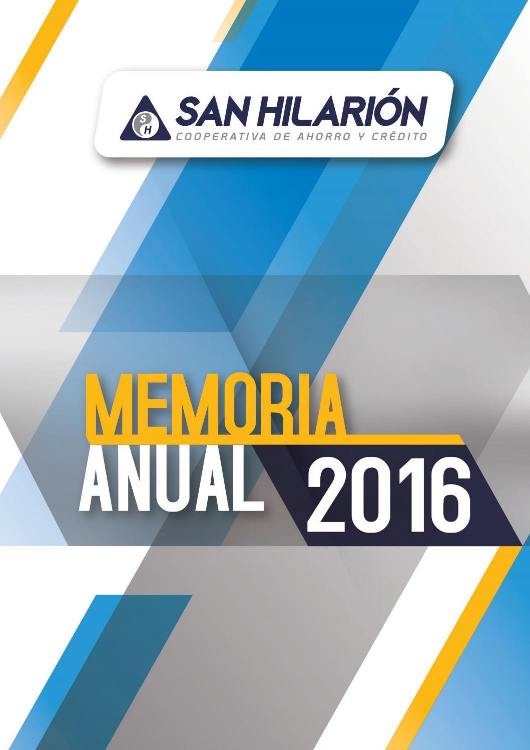 Memoria anual 2016 cooperativa san hilari n by cooperativa for Memoria anual