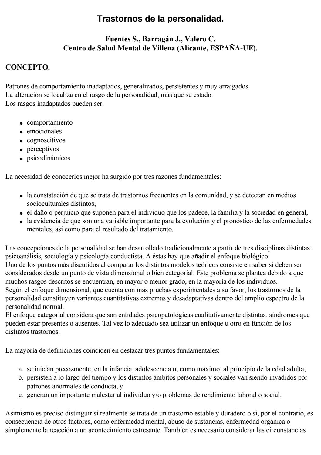 Trastornos de la personalidad by Laura Tochimani Vázquez - issuu