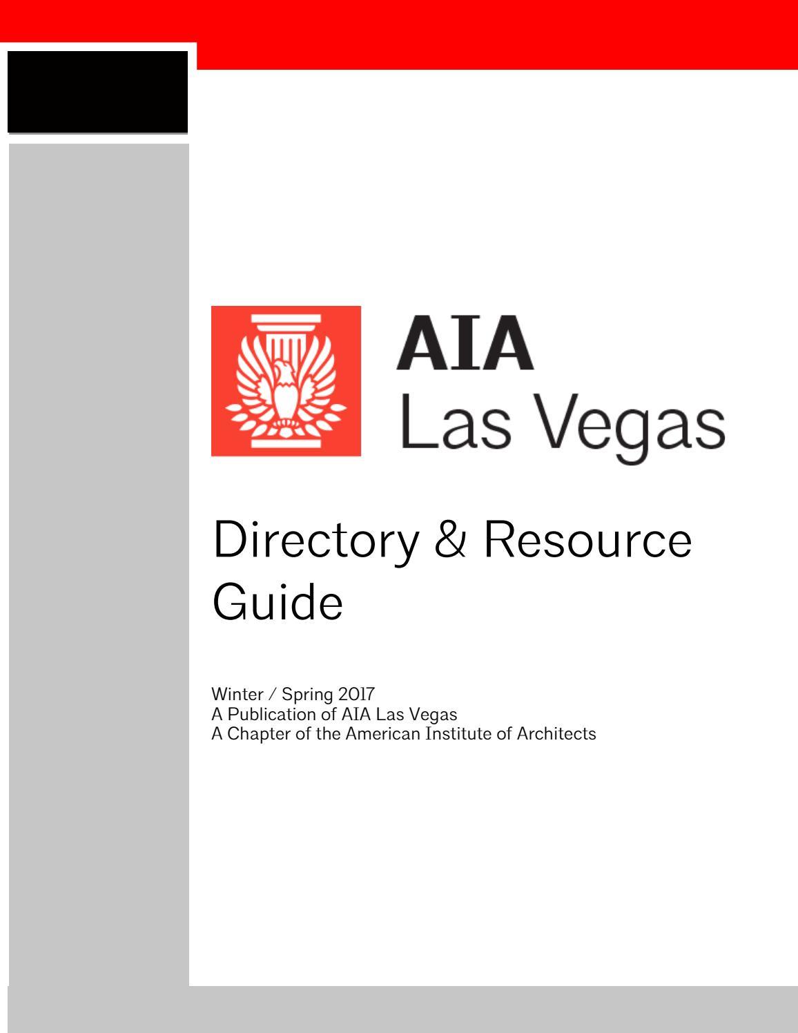 2017 aia las vegas directory by ev u0026a architects issuu