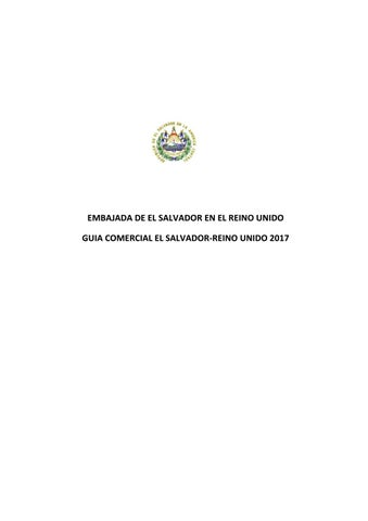 Guia Comercial De El Salvador Reino Unido By Ministerio De