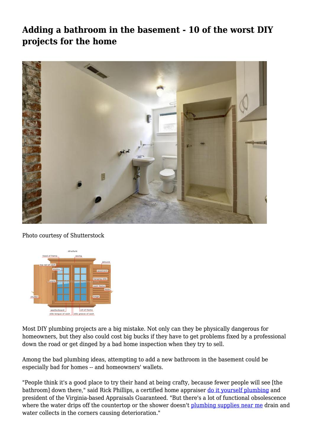 Adding A Bathroom In The Basement 10 Of The Worst Diy Projects For
