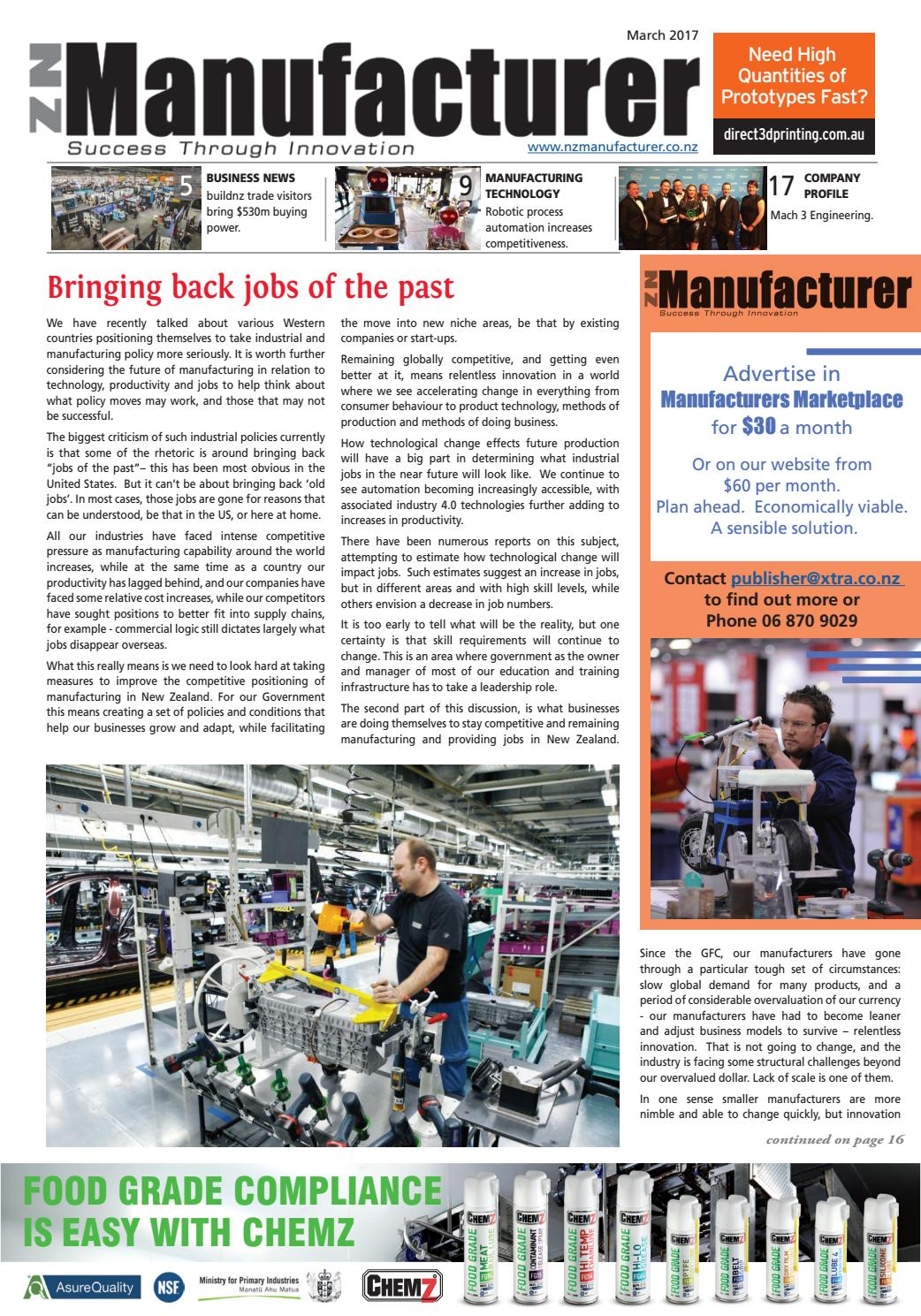 NZ Manufacturer March 2017 by Media Hawkes Bay Limited - issuu