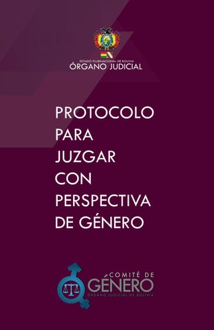 PROTOCOLO PARA JUZGAR CON PERSPECTIVA DE GÉNERO by Proyecto Acceso a ...