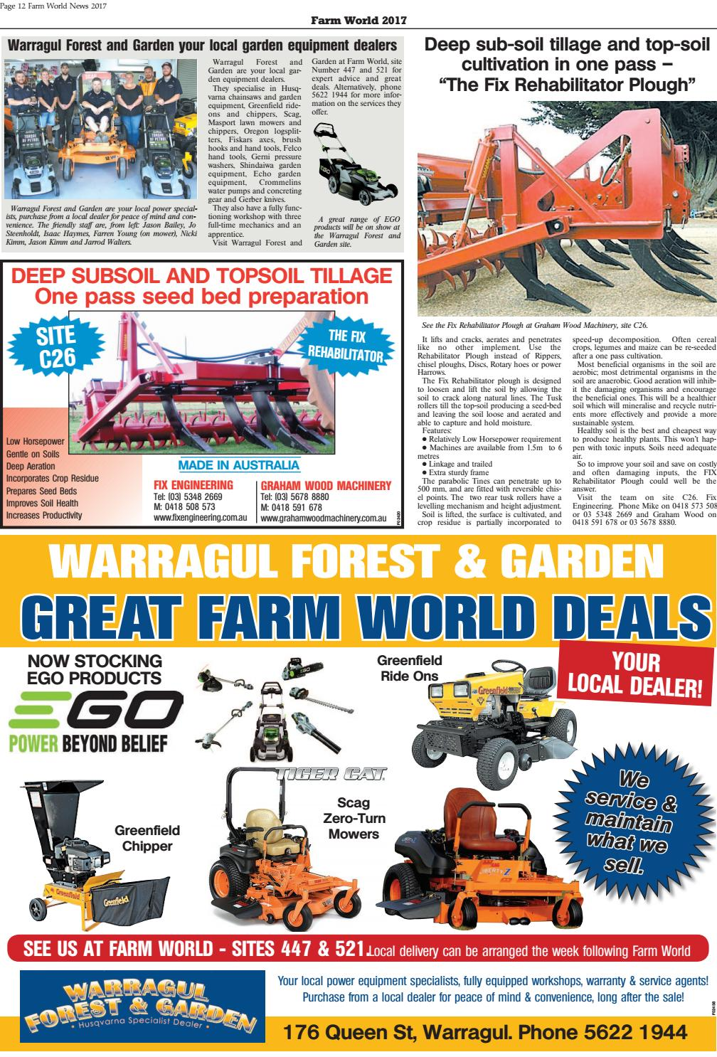 Farm World News 2017 By Warragul Amp Drouin Gazette Issuu
