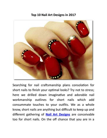 Top 10 Nail Art Designs In 2017 By Avinash Kumar Issuu
