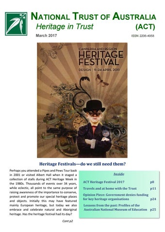 Heritage In Trust March 2017 by The National Trusts in