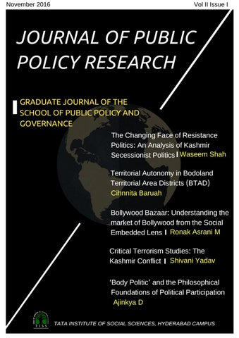 Journal of Public Policy Research-Volume II, Issue I by School of