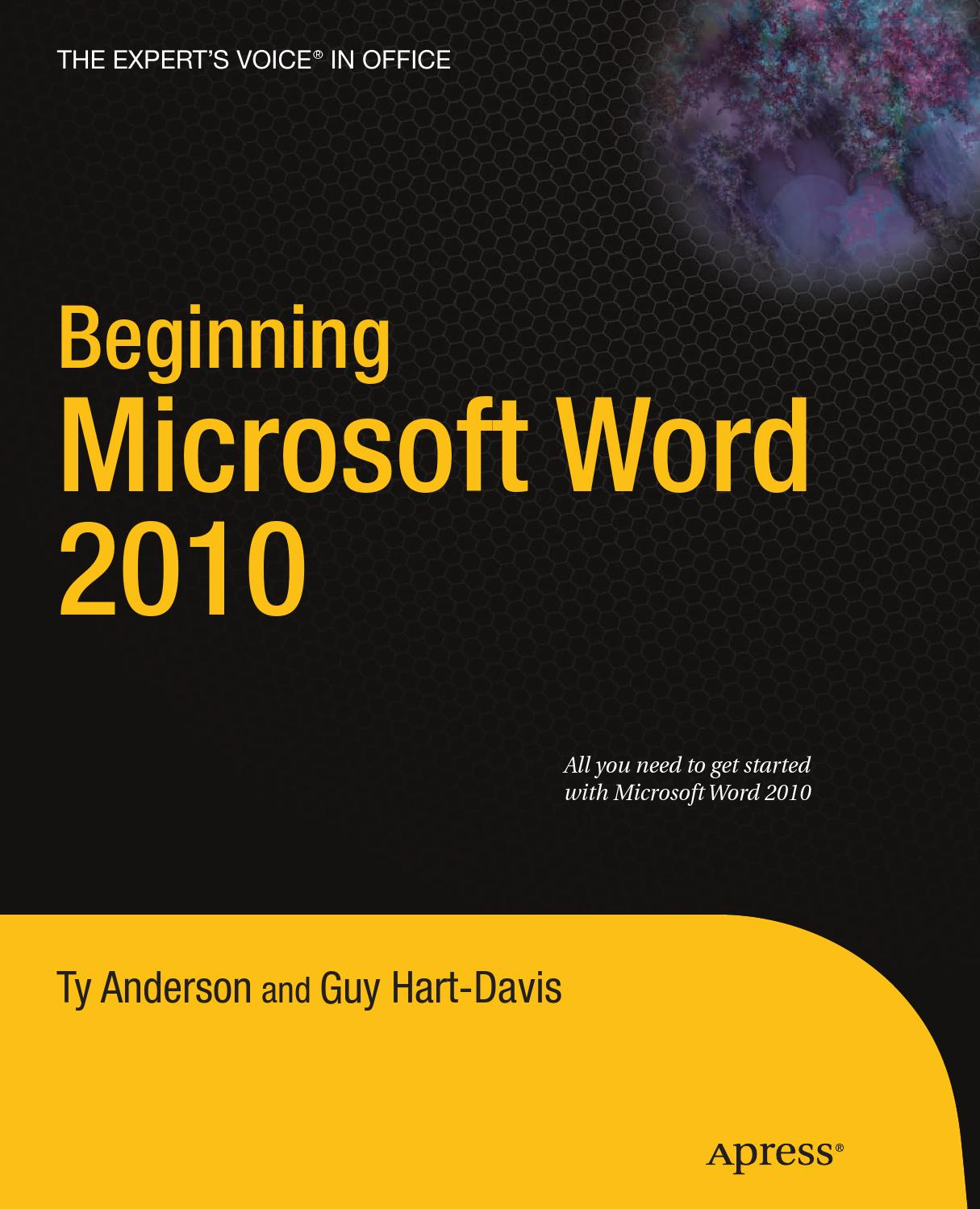Word 2010 beginning microsoft word 2010 (anche vba) (2010