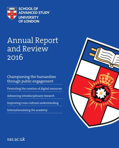 Annual Report and Review 2016 by School of Advanced Study - issuu 2e6210cc37