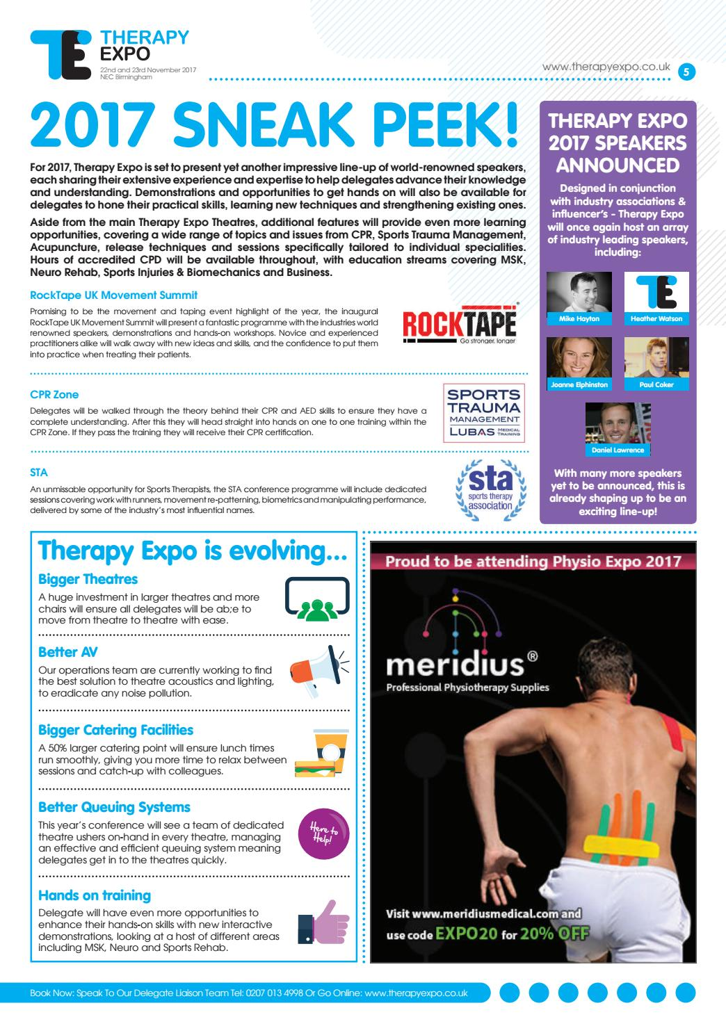 Therapy Expo Newspaper 1 2017 By Closerstill Media Issuu